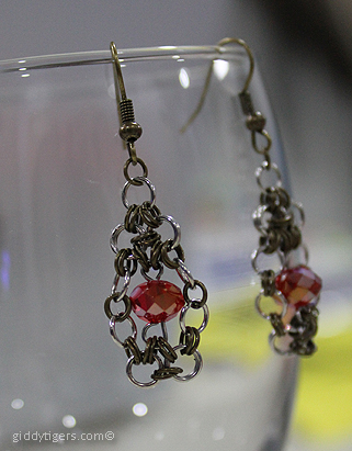 earrings-chainmaille