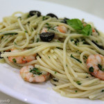 My Version of Shrimp Aglio Olio