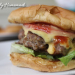 Homemade Hamburgers for New Year's Day