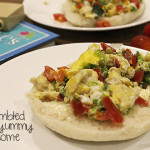 Easy Meal: Scrambled Eggs on English Muffin